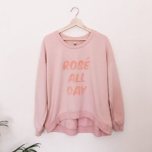 Rose All Day Pink Pullover Sweatshirt